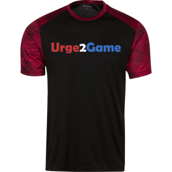 Urge2Game Men's CamoHex Tee Black / Red