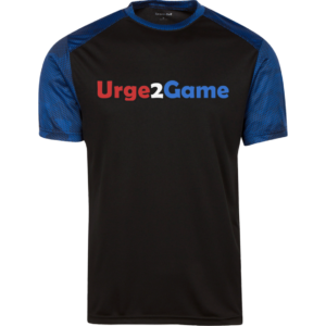 Urge2Game Men's CamoHex Tee Black / Royal Blue