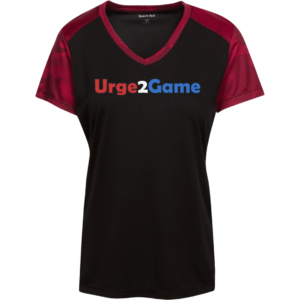 Urge2Game Women's CamoHex Tee Black / Red