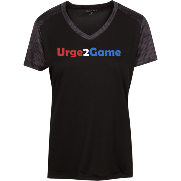 Urge2Game Women's CamoHex Tee Black / Iron Grey