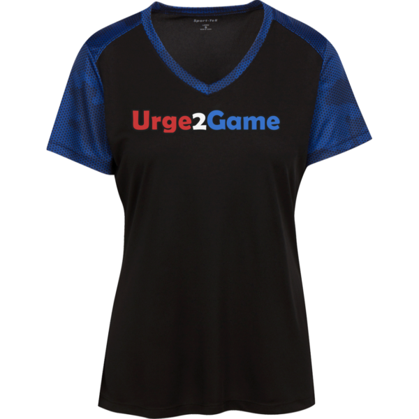 Urge2Game Women's CamoHex Tee Black / Royal Blue