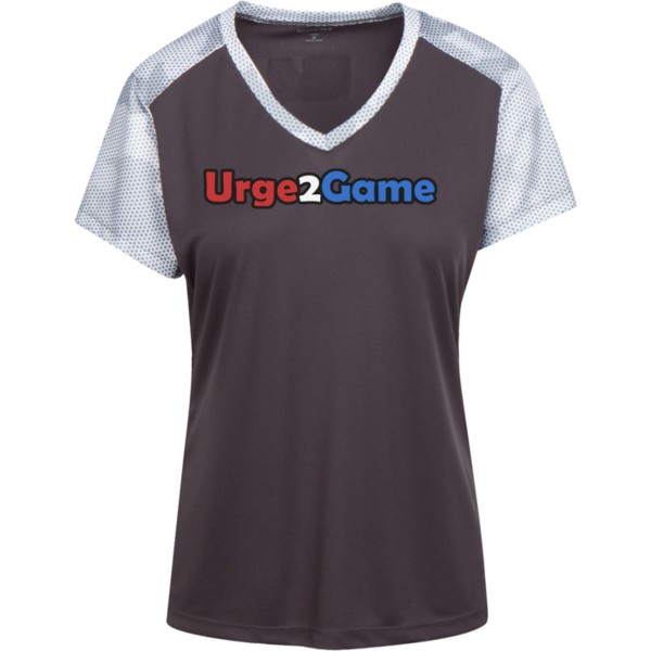 Urge2Game Women's CamoHex Tee Iron Grey / White