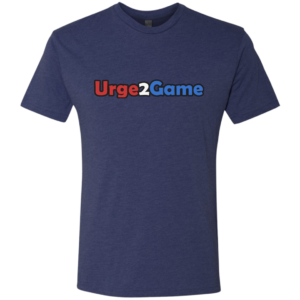 Urge2Game Men's Triblend Tee Blue