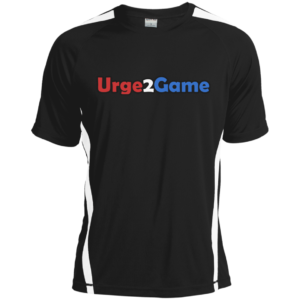 Urge2Game Dry Zone Shirt black with white stripe