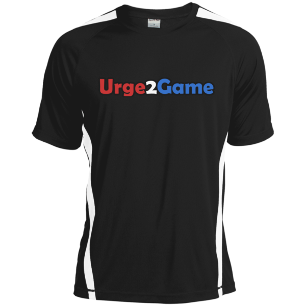 Urge2Game Dry Zone Shirt black with white stripe