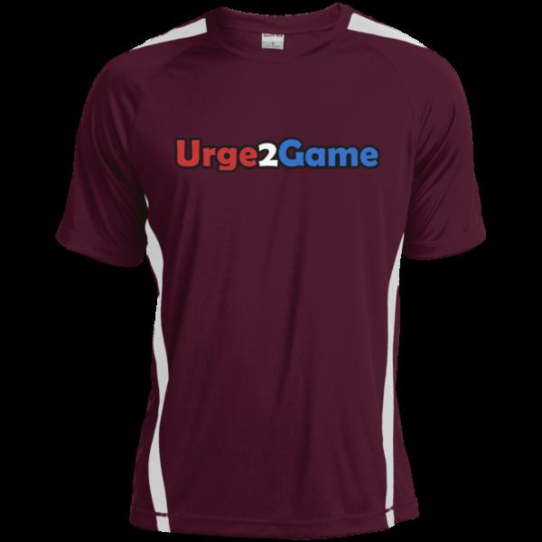 Urge2Game Dry Zone Shirt Burgundy with white stripe