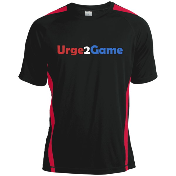 Urge2Game Dry Zone Shirt Black with red stripe