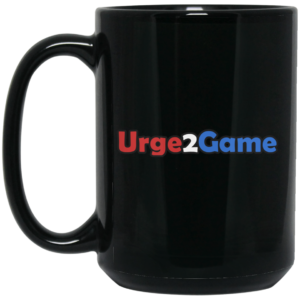 Urge2Game 15 oz. Black Mug