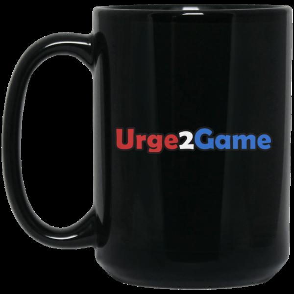 Urge2Game 15 oz. Black Mug