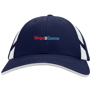 Urge2Game Mesh Inset Cap Navy and white