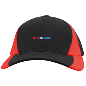 Urge2Game Colorblock Cap Black and Red