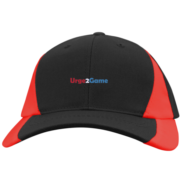 Urge2Game Colorblock Cap Black and Red