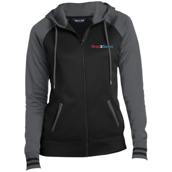 Urge2Game Women's Hooded Jacket Black and Grey