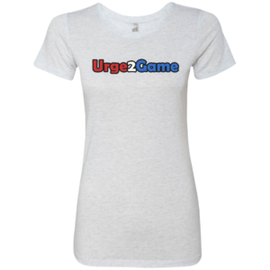Urge2Game Women's Triblend Tee White