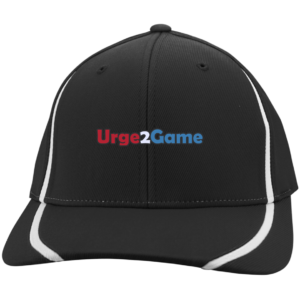 Urge2Game Flexfit Cap Black with white stripe