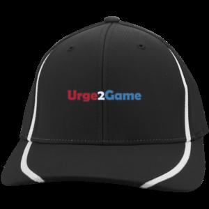 Urge2Game Flexfit Cap Black with white stripe