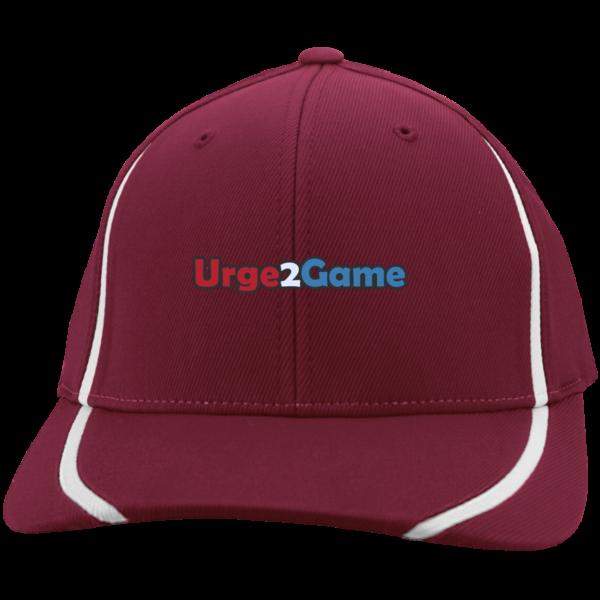 Urge2Game Flexfit Cap Red with white stripe