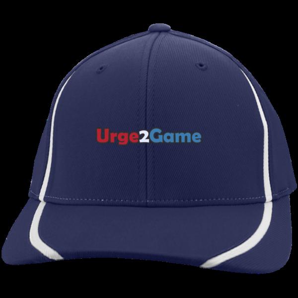 Urge2Game Flexfit blue with white stripe