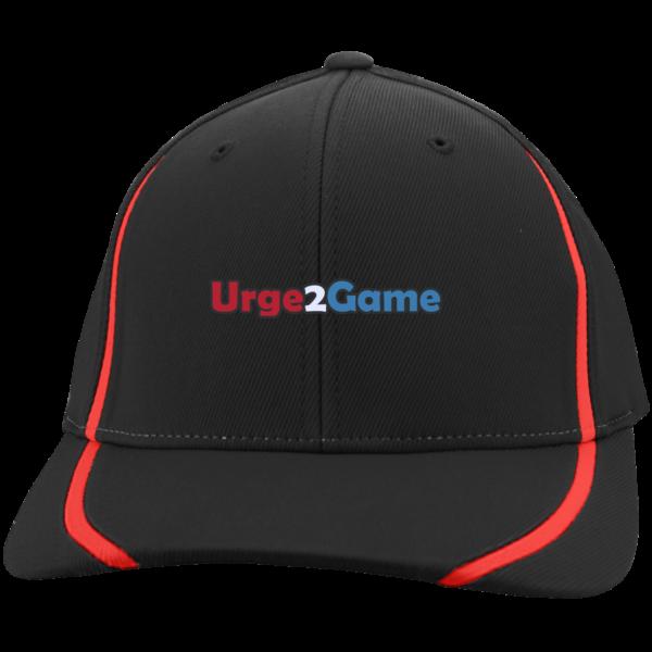 Urge2Game Flexfit Cap Black with Red stripe