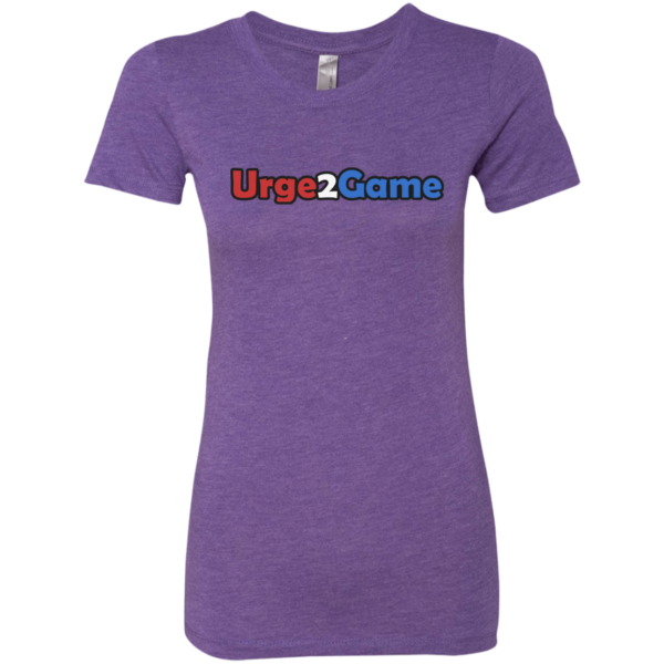 Urge2Game Women's Triblend Tee Purple